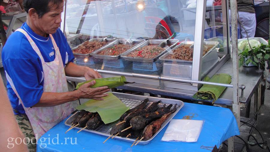 рынок еды в Тайланде