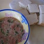 Жареный хлеб со свининой