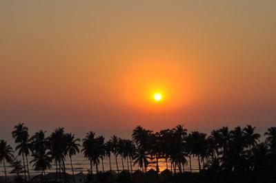 закат в Гоа