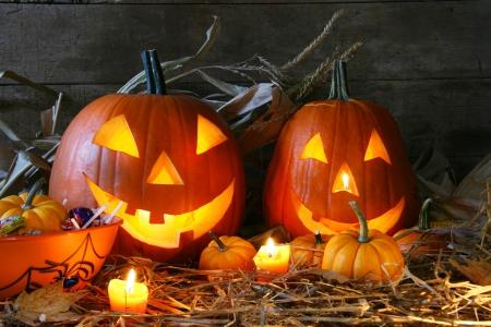 Jack или тыква с подсветкой на Хэллоуин